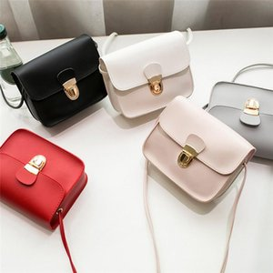 Women Messenger Bags Woman Bag Famous Brands Fashion Solid Color Cover Lock Shoulder Crossbody Phone Beach Sac Storage Boxes & Bins