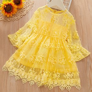 Little Girl Clothes Kids Dresses For Girls Lace Flower Dress Baby Girl Party Wedding Children Princess Dress 3 5 6 8 Years1 697 Y2