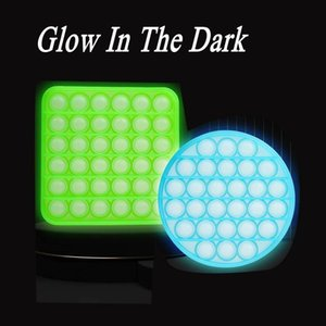 Glow in The Dark Fluorescent Push Fidget Sensory Wrap Toy Silicone Anti Stress Relief Luminous Decompression Toys