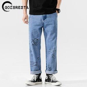 Goesresta Korean Fashoins 2021 Pantalones rectos vintage Hip Hop Streetwear Harem Pants Harajuku Hombres holgy Jeans