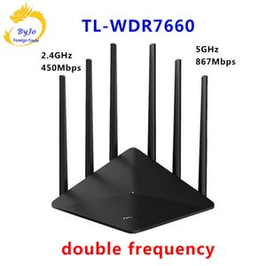 Tp-link Wireless Wifi Router Ac TL-WDR7660 1900mbps 2.4ghz+5ghz 802.11ac b n g a 3 3u 3ab for Family soho