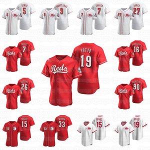 20 21 Cincinnati Aristitler Aquino Beyzbol Forması Voto Van Matt Kemp Yasiel Puig Eugenio Suarez Jesse Wink Jose Iglesias Johnny Bench Josh Mitte