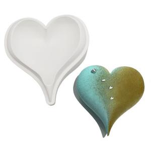 الجملة 3d الماس الحب شكل قلب سيليكون قوالب قوالب للخبز الإسفنج الشيفون موس الحلوى كعكة الغذاء الصف SN3899