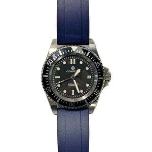 43mm Miyota 8215 Фабрика прямой купер-субмастер Военные дайверы Мужские механические часы с резиновой полосой C3 светящий 200 м.
