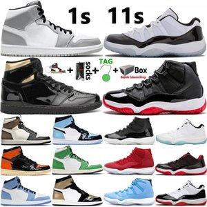 2020 Erkek Basketbol Ayakkabıları Yeni Varış 1 Yüksek OG Orta Kraliyet Mavi 1s Üst 3 Siyah Metalik Altın UNC Erkek Kadın Sneakers Eğitmenler