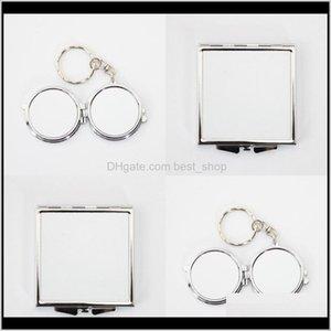 Sublimation Blank Make Up Mirrors Circular Shaped Girl Outdoors Mini Thermal Transfer Printing Fashion Cosmetic Looking Glass Diy 3 2R 5Vm3I