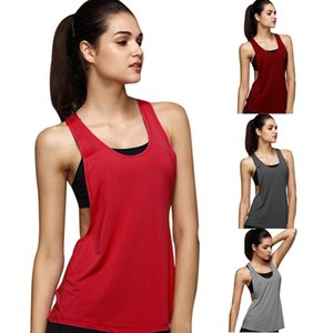 Summer Women's Yoga Sports Vest Slim Solid Color T-shirt