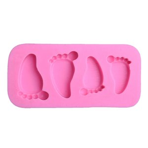 Footprint Silicone Mold DIY Sugar Cake Decorate Chocolates Desserts Molds Originality Baking Mould Kitchen Supplies 1 3xq F2 5F1H