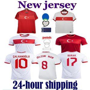 2021 Turkey Soccer Jerseys CELIK DEMIRAL OZAN KABAK CALHANOGLU YAZICI Home away white red Football Shirt training Uniforms maillot equipe de Foot Jersey
