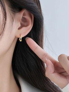earring S925 Sterling Silver Mobius earrings with twist