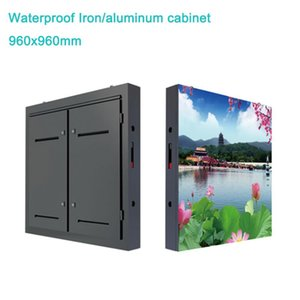 Outdoor P10mm Fixed Installation 960x960mm Waterproof Iron Cabinet LED Display Video Wall, Screen For Outside Street