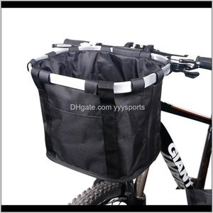 Baskets Bicycle Basket Handlebar Pannier Cycling Carryings Holder Bike Riding Pouch Cycle Biking Front Baggage Bag 30Kg Load 9Chdu Slv1F