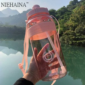 2000ml-600ml Outdoor Fitness Sports Bottle Kettle Large Capacity Portable Climbing Bicycle Water Bottles BPA Free Gym Space Cups H0831