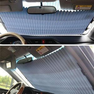 Car Sunshade 46cm Folding Anti-UV Windshield Curtain Curtains Reflective Film Retractable Cover Set C0A9