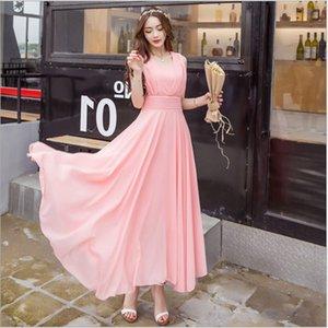 Dresses 2021 Summer New Women's Beach Skirt Slim Temperament Chiffon Bohemian Dress