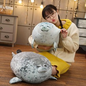 Party Favor Angry Blob Seal Pillow Chubby 3D Novelty Sea Lion Doll Plush Stuffed Toy Baby Sleeping Throw Gifts For Kids Girls