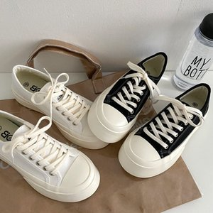 All-match cute thick-soled increased canvas shoes female ins student street shooting ugly color white shoe