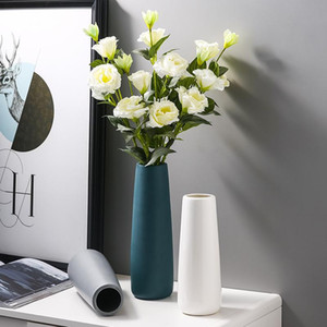 Modern Plant Vase Decoration Nordic Flower Accessori in ceramica Camera da letto Desk per ufficio estetico Deco Maison Home Decor DF50HP Vasi
