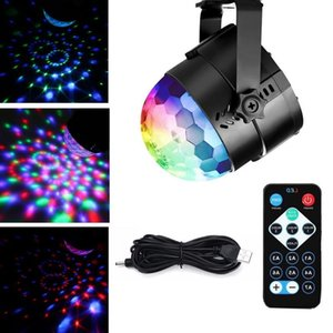 Mini RGB Laser Lighting LED Crystal Magic Ball Stage Effect Lights Lamp Bulb Party Disco Club DJ Light Lasers Show Car Lamps