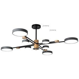 Pendant Lamps Modern Simple Decor Lamp Lights Nordic Luster Wooden LED Chandelier Lighting Living Room Hanging Light Fixtures