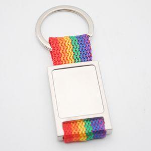 Creative Advertising Goods Metal Ribbon Keychain Pendant