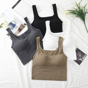 Suspender Bra Buy Women's Collar Open Back Without Steel Ring Gathered with Chest Pad to Show Thin and Wear I-shaped Vest 94JB
