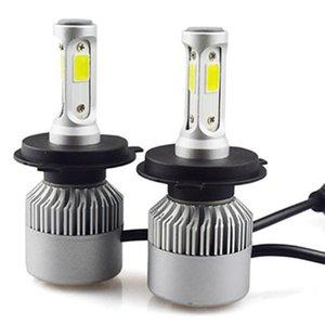 Car Headlights 1 Pair S2 LED Headlight 8000LM Super Bright Driving Fog Lights Replace Bulbs Lamp Waterproof Head
