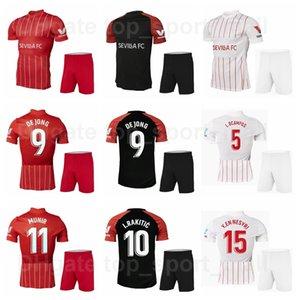 20 21 Futebol FC Sevilha 5 Lucas Ocampos Jerseys Conjunto 15 Youssef En-Nesyri 16 Jesus Navas 10 Sempre Banega Sevilha Camisa de Futebol Kits