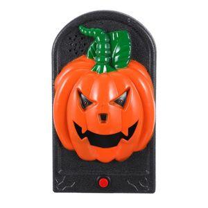 Doorbells 1pc Horrible Pumpkin Doorbell Glowing Decor Prop