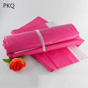 100pcs Rose Red Poly Mailing Adhesive Envelope Bags Bolsa Gift Packaging Bags Plastic Mailer Pink Garment Boxes Post dsf0280