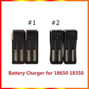 2 in 1 Battery Charger Dual E Cigarette Universal for 18650 18350 Batterys with two Charging Port DHL Free