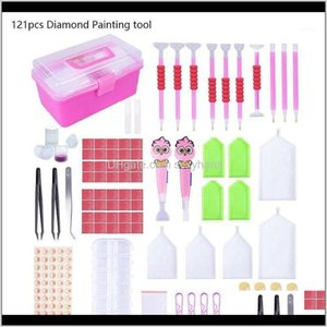 Sewing Notions Tools Apparel Drop Delivery 2021 121Pcs Multi 5D Diamond Tool Embroidery Kit Art Painting Accessories For A Large Area With Th