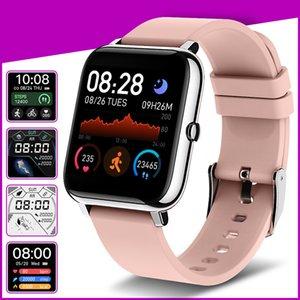 P22 Smart Watch 1.4 дюйма полный сенсорный экран пользовательские наборы сердечных сокращений. Упражнения кислорода в крови, совместимые с iOS и Android 7 цветов