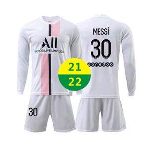 EUA rápido 2021 fora do futebol desgaste messi jerseys manga longa sportswear 2022 treino adulto tracksuit crianças kit de futebol conjuntos camisas uniformes 21 22 com logotipo # blk-21a1