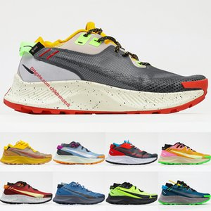 Top Quality Pegasus Trail 2 Running Shoes For Mens Womens Smoke Grey Bucktan Thunder Blue Gore Tex Bright Mango Neon Outdoor Trainers Size 36-45