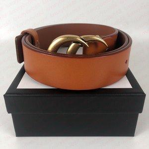 women men designers belts high quality Fashion casual man woman leather belt cinturones de diseño width 3.8cm with box