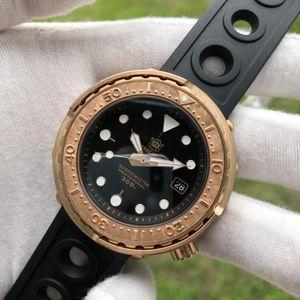 Bronze CUSN8 Дайвер часы черный циферблат C3 синий супер светящийся 300 м водонепроницаемый NH35 автоматическое движение мужчины наручные часы