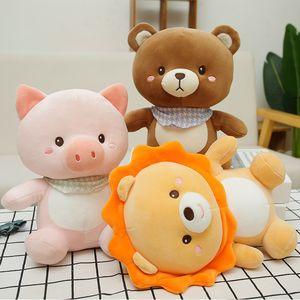 25cm Bear Plush Toys Cute Stuffed animals Pig Lion High Quality Soft Boys Dolls Home Decoration Kids Toy Birthday Gifts