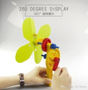 DIY Building Blocks Toys Summer Hand Fan Bricks Toy Large Particle Puzzle Blocks Kids Early Intelligence Creative Gifts