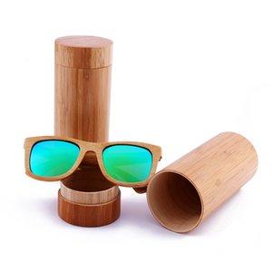 new style Polarized sunglasses bamboo frame wood men women en eyewear glasses