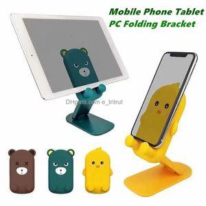 Bear dos desenhos animados Pato Universal Telefone Titular dobrável suporte para celular 10 polegadas ou menos tablet pc stand com pacote de varejo mq30