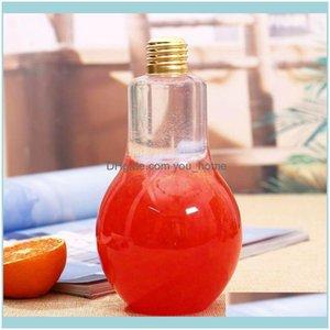 Garrafas Home Jardim Cozinha, Bar Lâmpada Lâmpada Lâmpada Lâmpada Garrafa de Águas Plásticas Suco De Leite Descartável Copo De Bebida à Prova de Vazão Com Tampa Criativa D