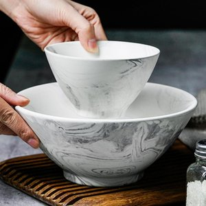 Bowls Hat Bowl Ceramic Beveled Large Salad Household Simple Rice Noodle Soup Small In Northern Europe