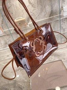Large transparent handbag luxury handbag designer transparent handbag top handle bag