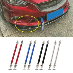 2x Universal Racing Adjustable Front Rear Bumper Lip Splitter Support Bar Kit 75mm 100mm Car Styling Tunning