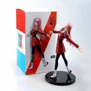 Anime Liebling in der Franxx-Figur Spielzeug Zero Zwei 02 PVC-Action-Sammlung Modell Spielzeug Weihnachtsgeschenke 21cm