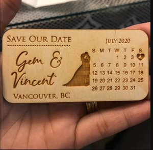 Fridge Magnets Wedding Save The Date With Silhouettes, Wooden Magnet , Magnets, Couple, Groom And Bride, Calendar-