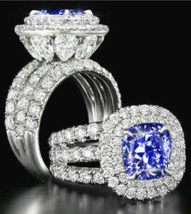 Victoria Wieck Stunning Luxury jewelry Couple Rings 925 Sterling Silver Pear Cut Sapphire Emerald Multi Gemstones Wedding Bridal Ring Set