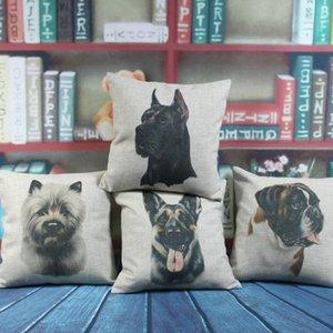 """18 """"x18"""" 1 шт. Всемирно известная собака милая собака Pet Norwich Terrier Boxer черный немецкий волкодавый мешковина наволочка подушка подушки подушки / декоративная подушка"""