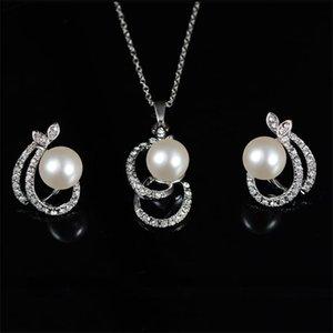 Fahsion Simule-Pear Jewelry Conjunto Colar Brincos Dois PCs por Set Best Selling Africano Beads Jóias Parure Bijoux Femme 911 Q2